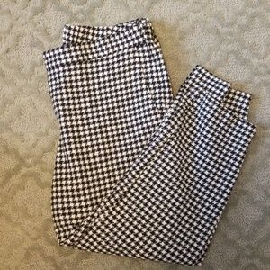 White and Black Checkered Pants